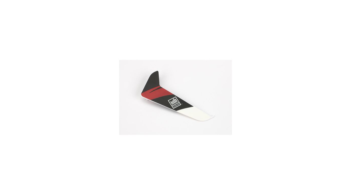 Image for Vertical Fin with Red Decal: 120SR from HorizonHobby