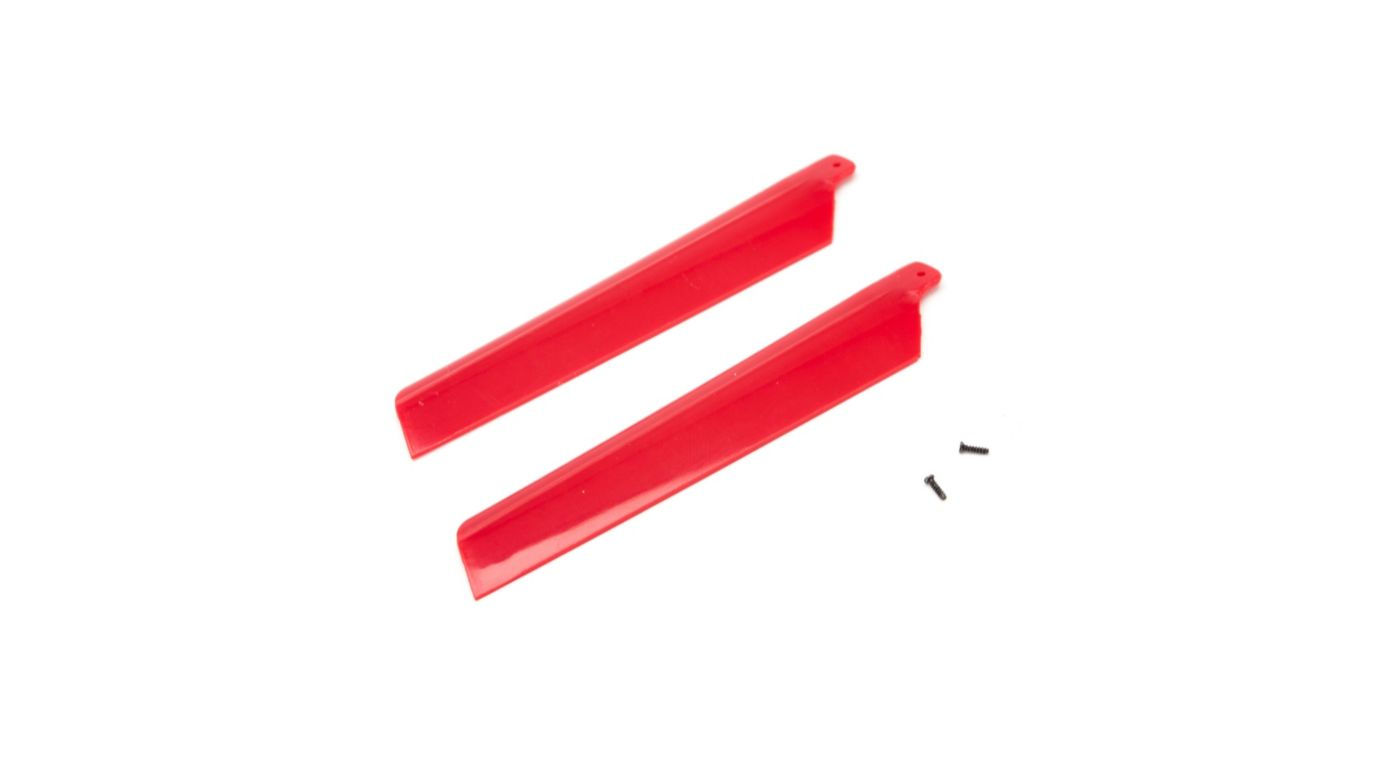 Image for Main Rotor Blades, Red (2): MSRX from HorizonHobby