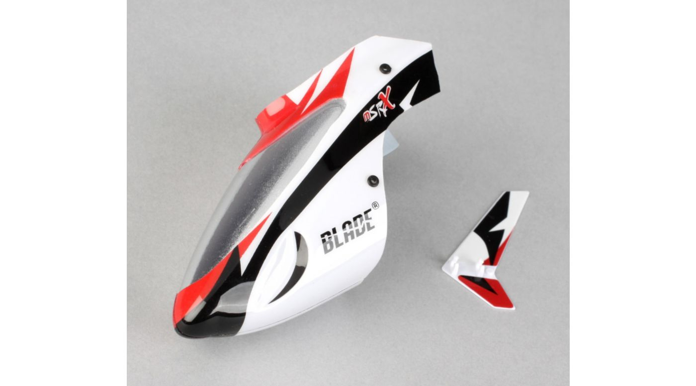 Image for Complete White Canopy with Vertical Fin  MSRX from HorizonHobby