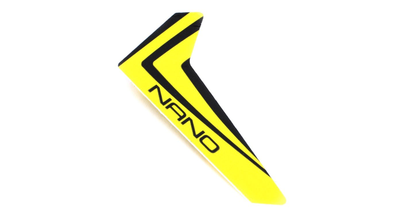 Image for Yellow Vertical Fin with Decal: Nano CP X from HorizonHobby