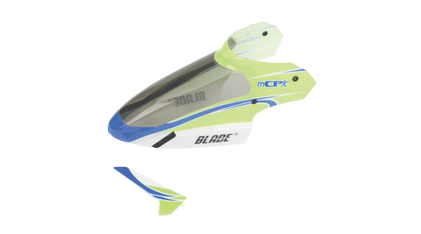 Image for Complete Green Canopy with Vertical Fin: mCP S/X from HorizonHobby