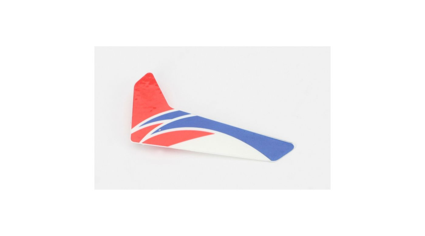 Image for Red Vertical Fin with Decal: mCP X from HorizonHobby