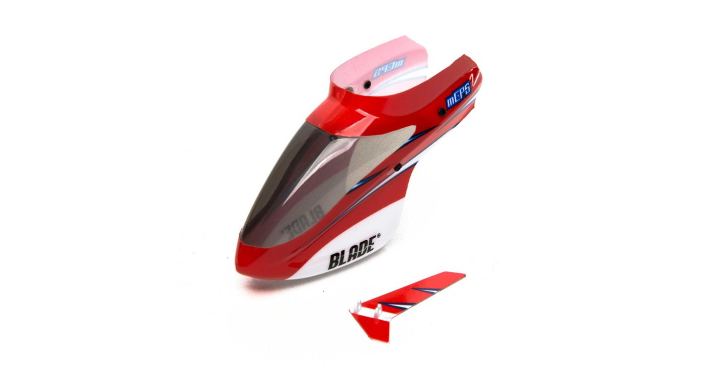 Image for Complete Red Canopy with Vertical Fin: mCP S from HorizonHobby