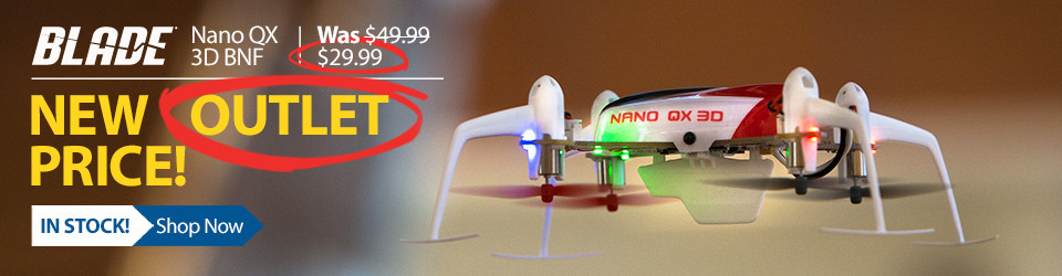 Save on the Blade Nano QX 3D in the Horizon Hobby Outlet