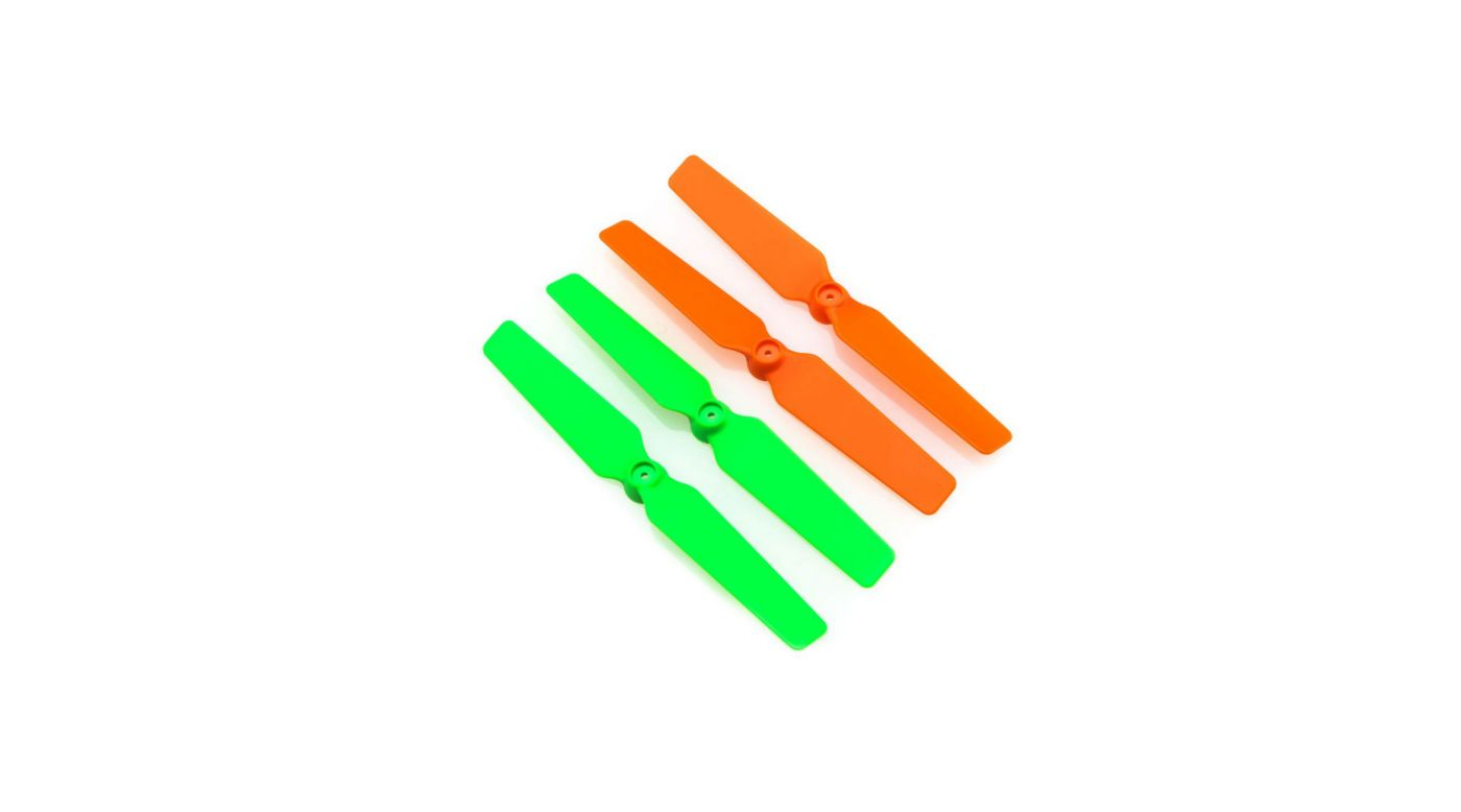 Grafik für Blade 200QX: 3D-Propeller (4er Set) orange / grün in Horizon Hobby