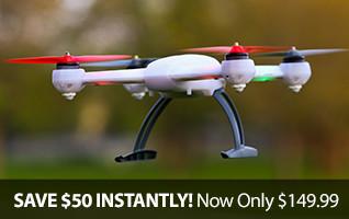 Blade 200 QX BNF Multirotor Quadcopter Drone Camera Platform