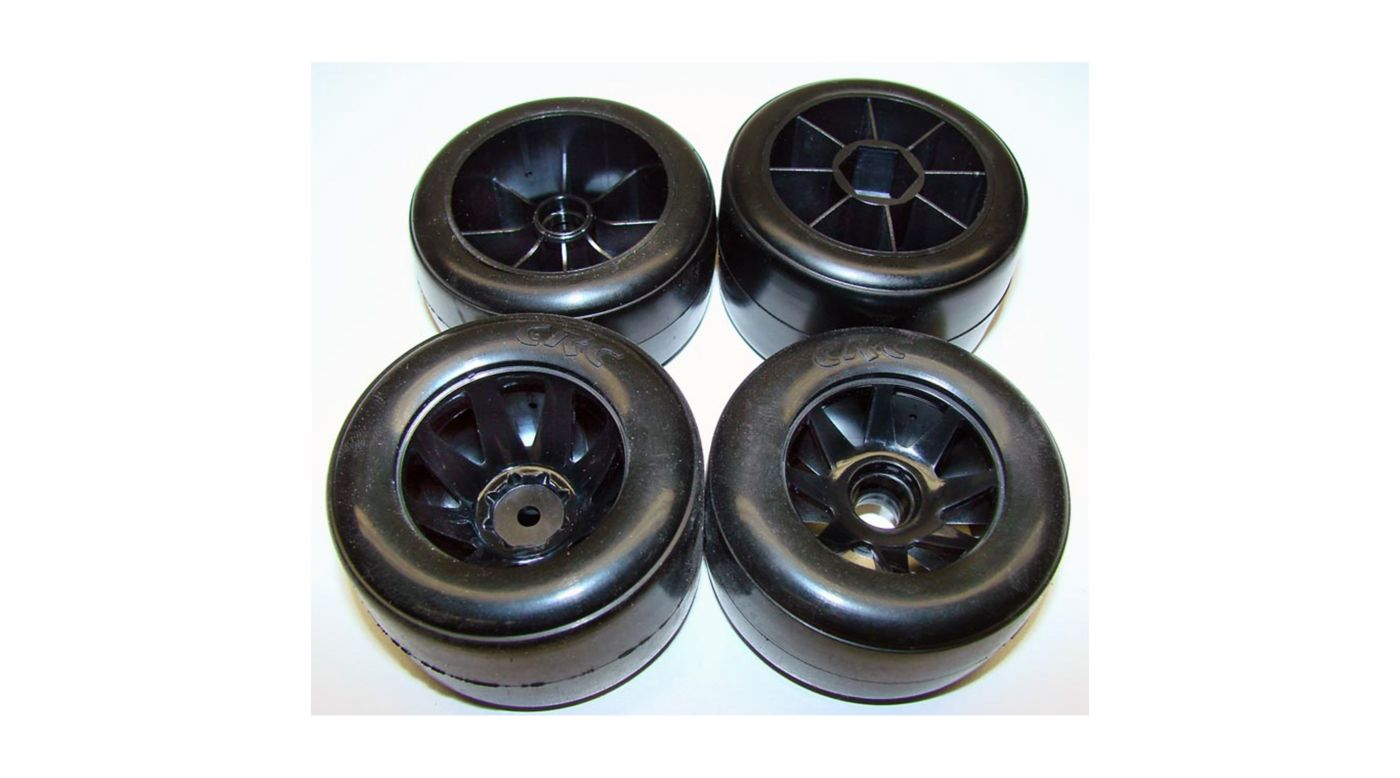 Image for F1, RT-1 Front and Rear Rubber Tires, Mounted on Pro-Mount F1 Wheels from HorizonHobby