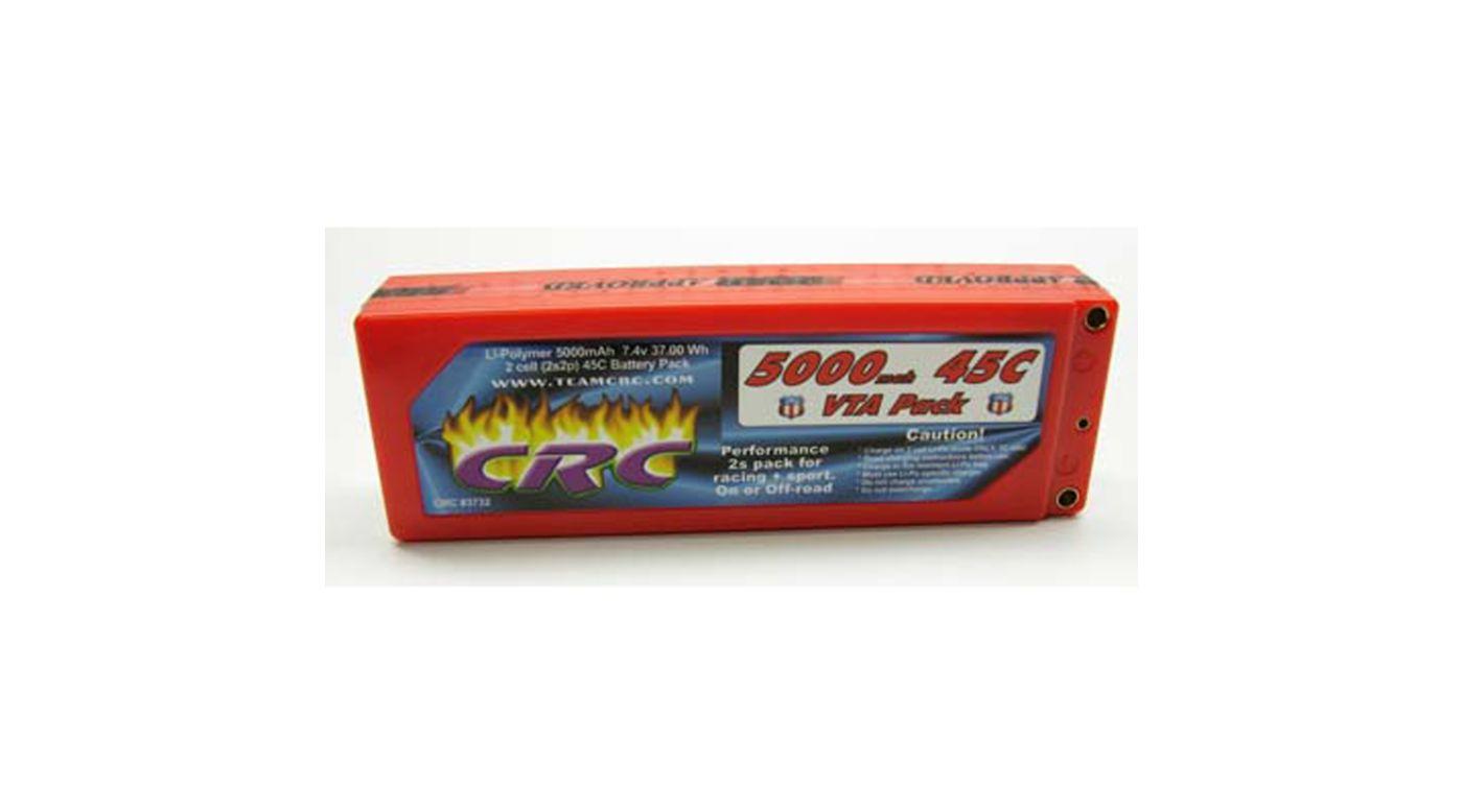 Image for 7.4V 5000mAh 2S 45C VTA Hardcase LiPo Battery: Tubes from HorizonHobby