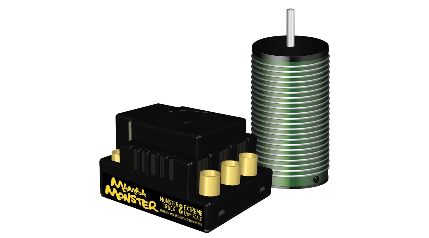 mamba monster 1 8 cm2650 esc motor brushless combo horizonhobby image for mamba monster 1 8 cm2650 esc motor brushless combo from horizonhobby