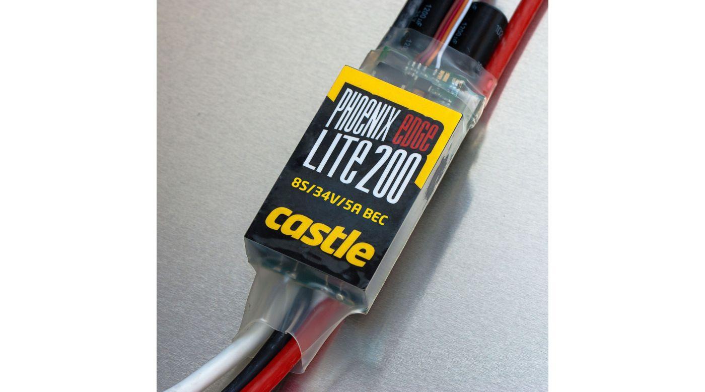 Image for Phoenix Edge Lite 200, 34V 200-Amp ESC w/ 5-Amp BEC from HorizonHobby