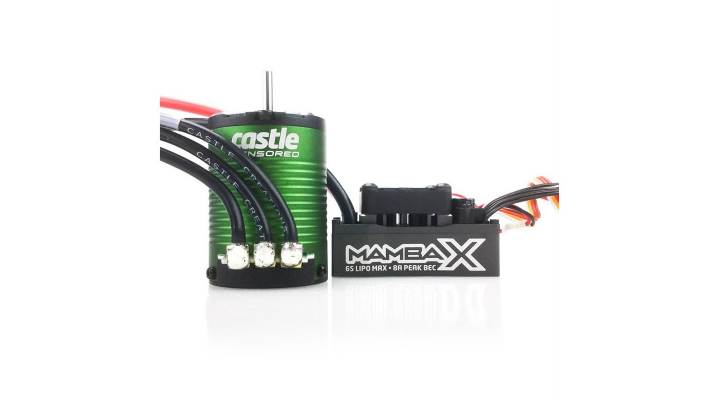 Image for 1/10 Mamba X Waterproof ESC/1406-4600Kv Sensored Brushless Motor Combo: 4mm Bullet from HorizonHobby