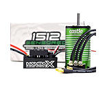 Castle Creations - 1/8 Mamba X Waterproof ESC/1512-1800Kv E-Buggy EditionX Sensored Brushless Motor Combo: 4mm Bullet