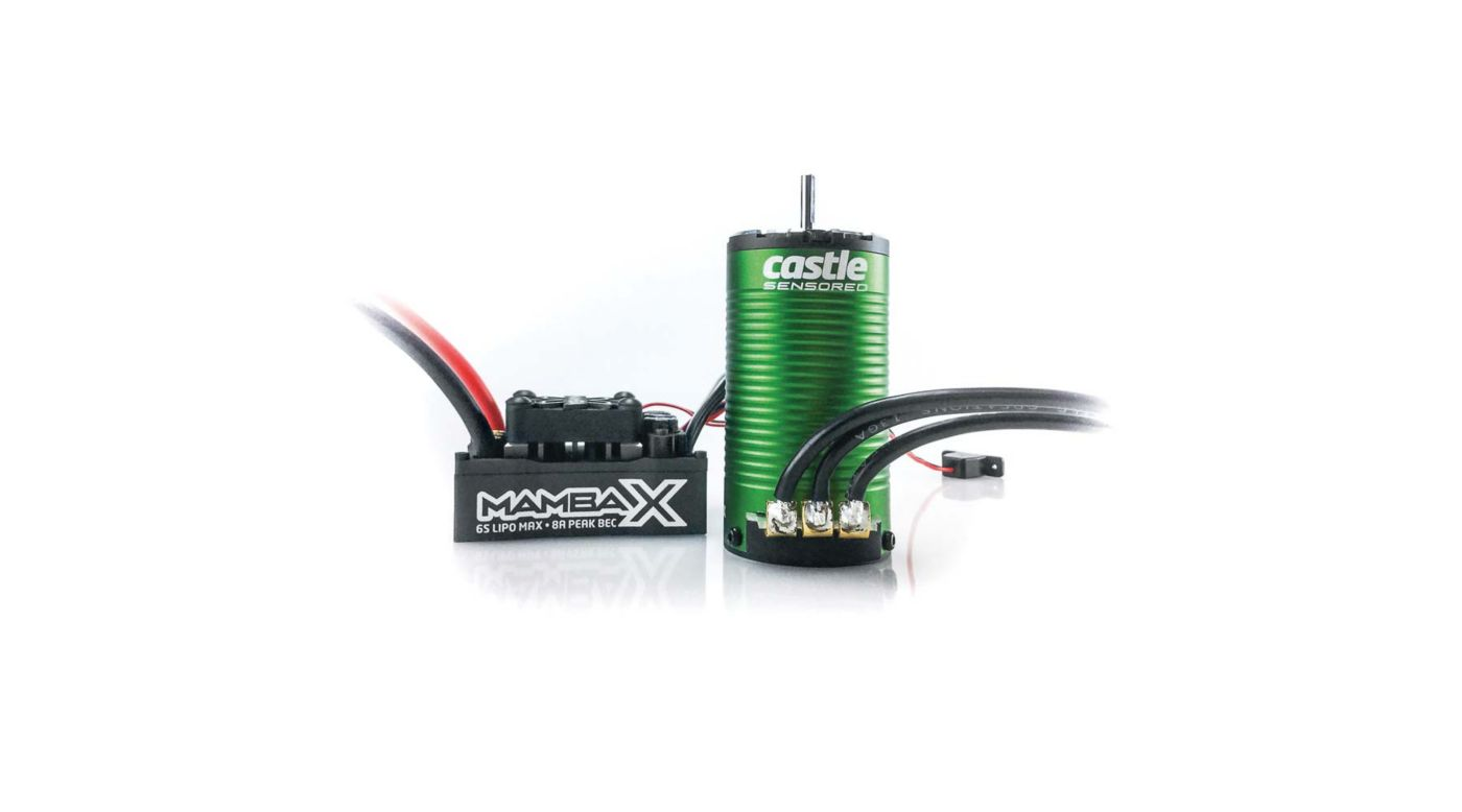 Image for 1/10 Mamba X SCT Waterproof ESC/1415-2400Kv Sensored Brushless Motor Combo: 4mm Bullet from HorizonHobby