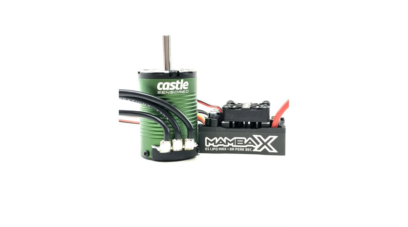 Image for Mamba X SCT Pro Sensored 25.2V Waterproof  ESC with 1410-3800Kv 5mm Motor Combo from HorizonHobby
