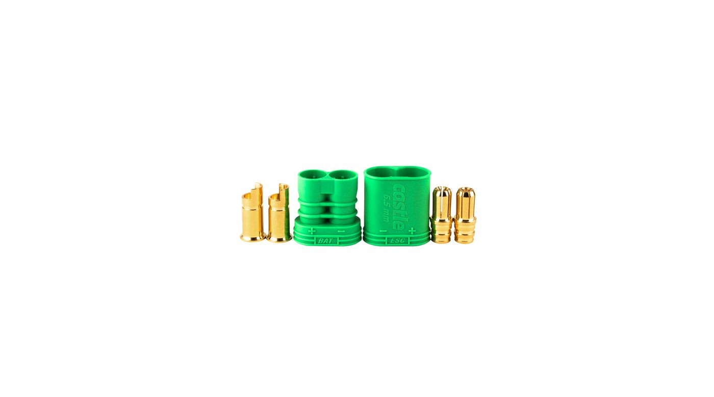 Image for Connector: 6.5mm Polarized Bullet Device and Battery Set from HorizonHobby