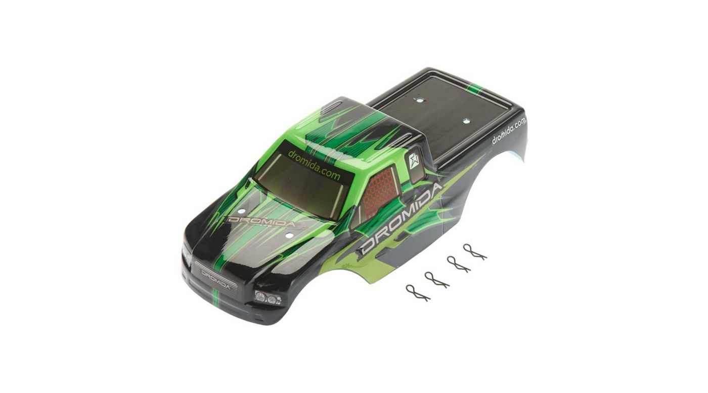 Image for Body Printed with Decals, Green: Monster Truck V2 from HorizonHobby
