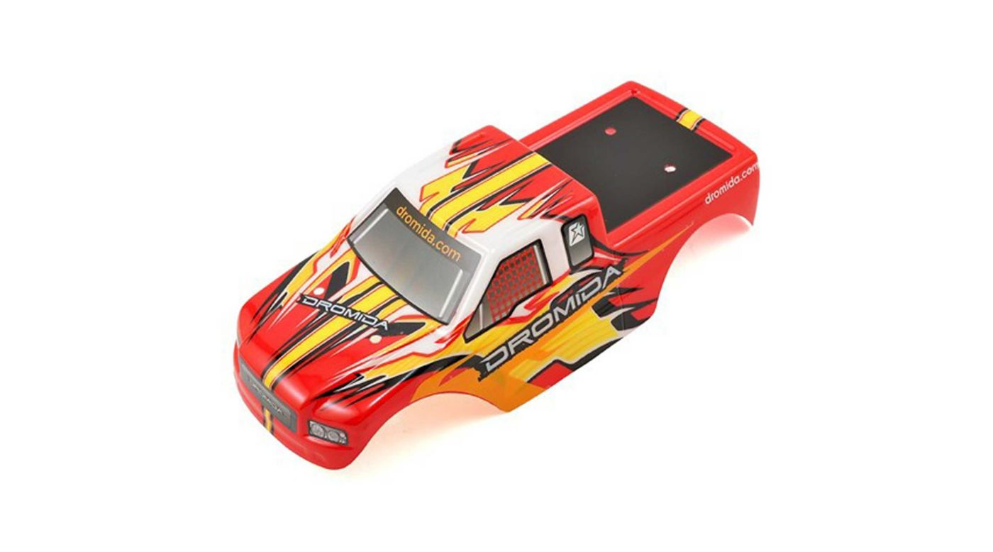 Image for Body Printed with Decals, Red Yellow: Monster Truck V2 from HorizonHobby