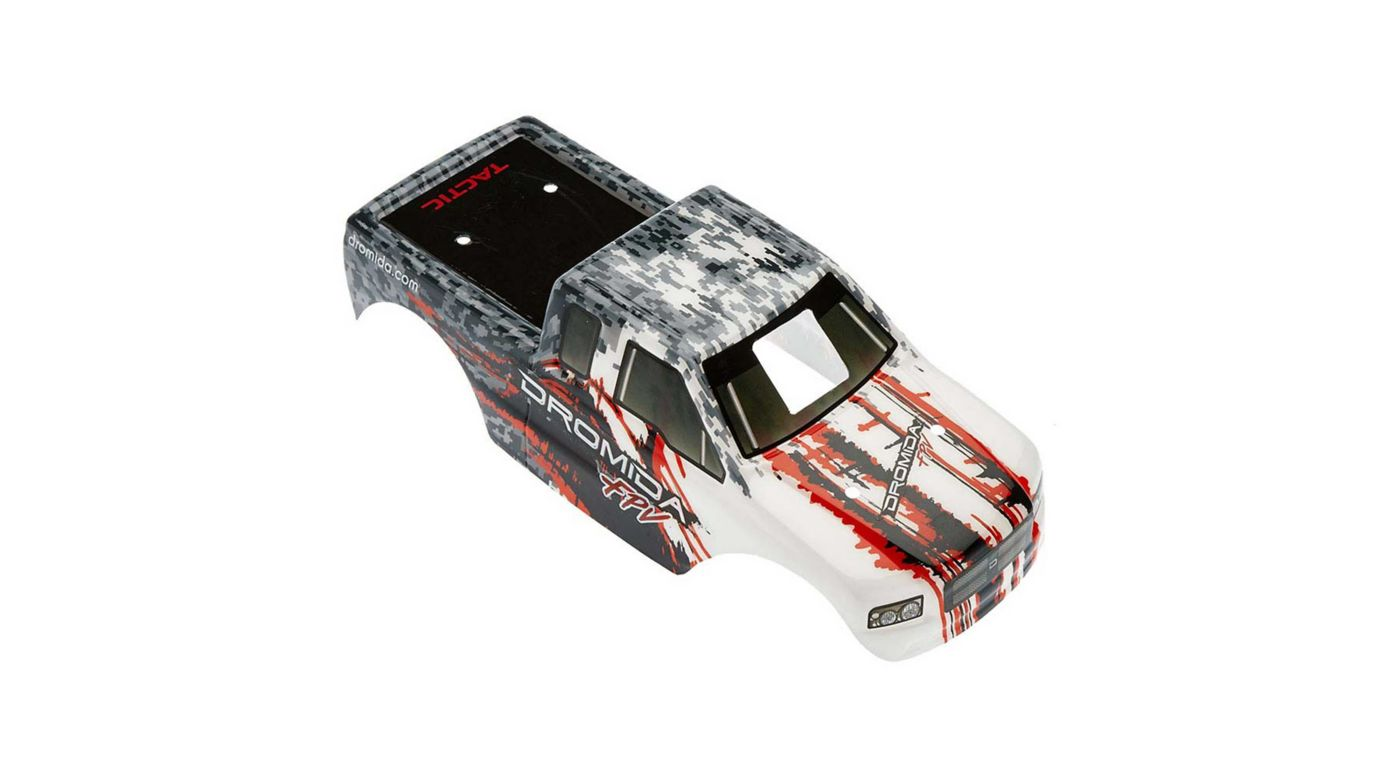 Image for Body with Decals, Gray/Red: Monster Truck FPV from HorizonHobby