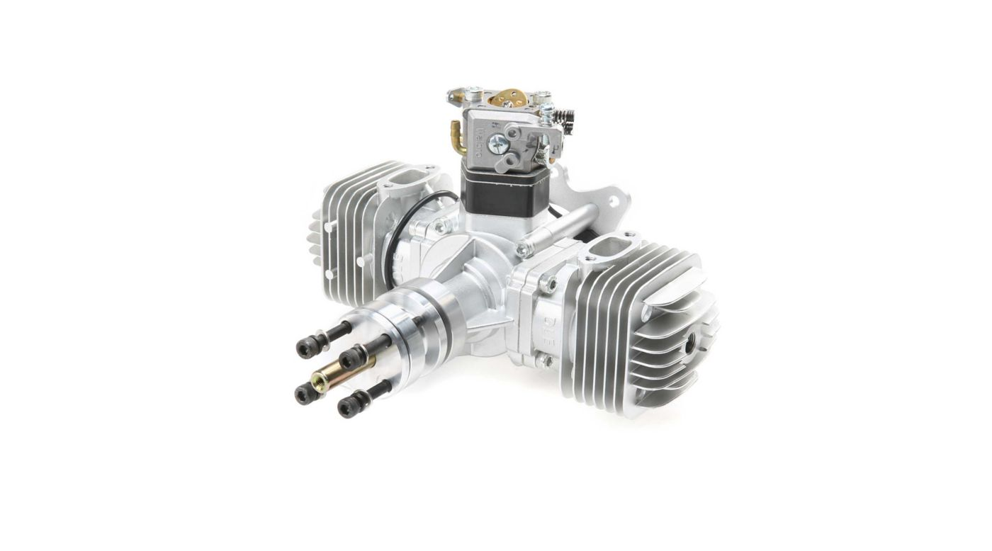Image for DLE-60 60cc Twin Gas Engine with Electronic Ignition and Mufflers from HorizonHobby