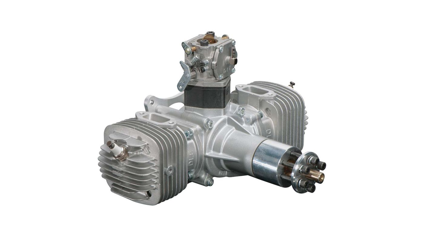 Image for DLE-120 120cc Twin Gas Engine with Electronic Ignition and Mufflers from HorizonHobby