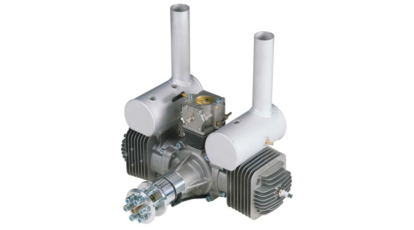 Image for DLE-170 170cc Twin Gas Engine with Electronic Ignition and Mufflers from HorizonHobby