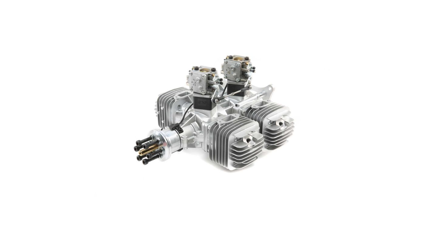 Image for DLE-222 222cc 4-Cyl Gas Engine with Electronic Ignition and Mufflers from HorizonHobby