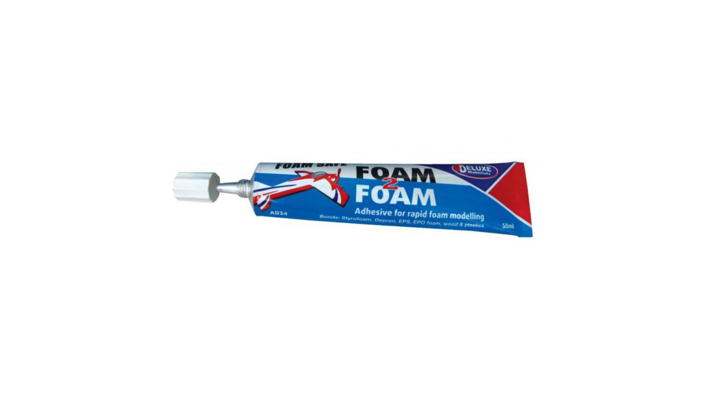 Image for Foam 2 Foam, Foam Safe Glue, 50ml: EPO, EPS, Wood from Horizon Hobby