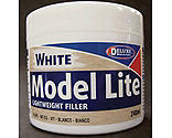 Deluxe Materials - Model Lite Balsa Filler, White: 240cc