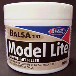 Deluxe Materials BD6 Model Lite Wood Filler Balsa Color 8.1oz