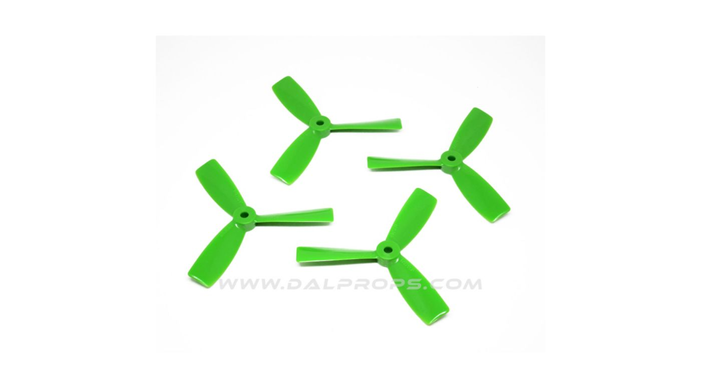 Image for 4X4.5 Bull Nose DAL Prop: Green (4pk) from HorizonHobby