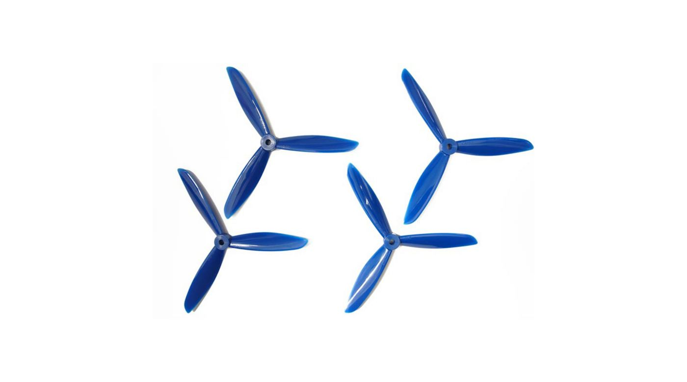 Image for 6x4.5 DAL Tri-Prop: Blue (4pk) from HorizonHobby