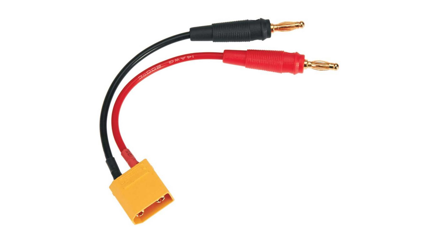 Image for Charge Lead: Banana Plugs to XT90 Male from HorizonHobby
