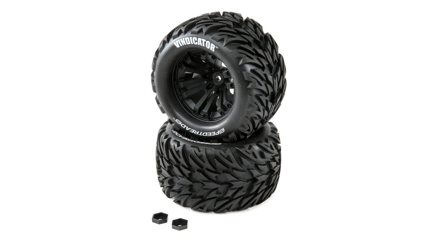 Image for SpeedTreads Vindicator Tires Mounted (2):  1/10 Stadium/Monster Truck from HorizonHobby