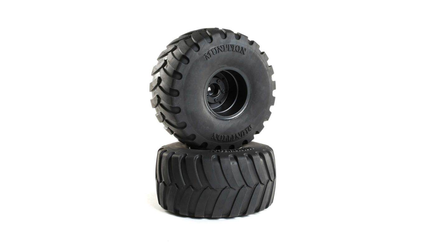 Image for Munition MT 2.2 Mounted Tires, Black (2) from HorizonHobby