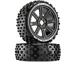 Duratrax - Punch C2 Mounted Buggy Spoke Tires, Black (2)