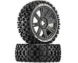 Duratrax - Six-Pack C2 Mounted Buggy Spoke Tires, Black (2)