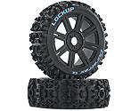 Duratrax - Lockup 1/8 C2 Mounted Buggy Spoke Tires, Black (2)