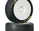 Duratrax - Lineup 1/8 C2 Mounted Buggy Tires, White (2)