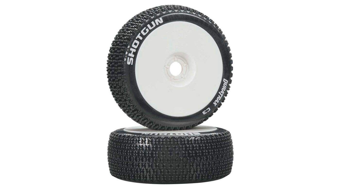 Image for Shotgun 1/8 C3 Mounted Buggy Tires, White (2) from HorizonHobby