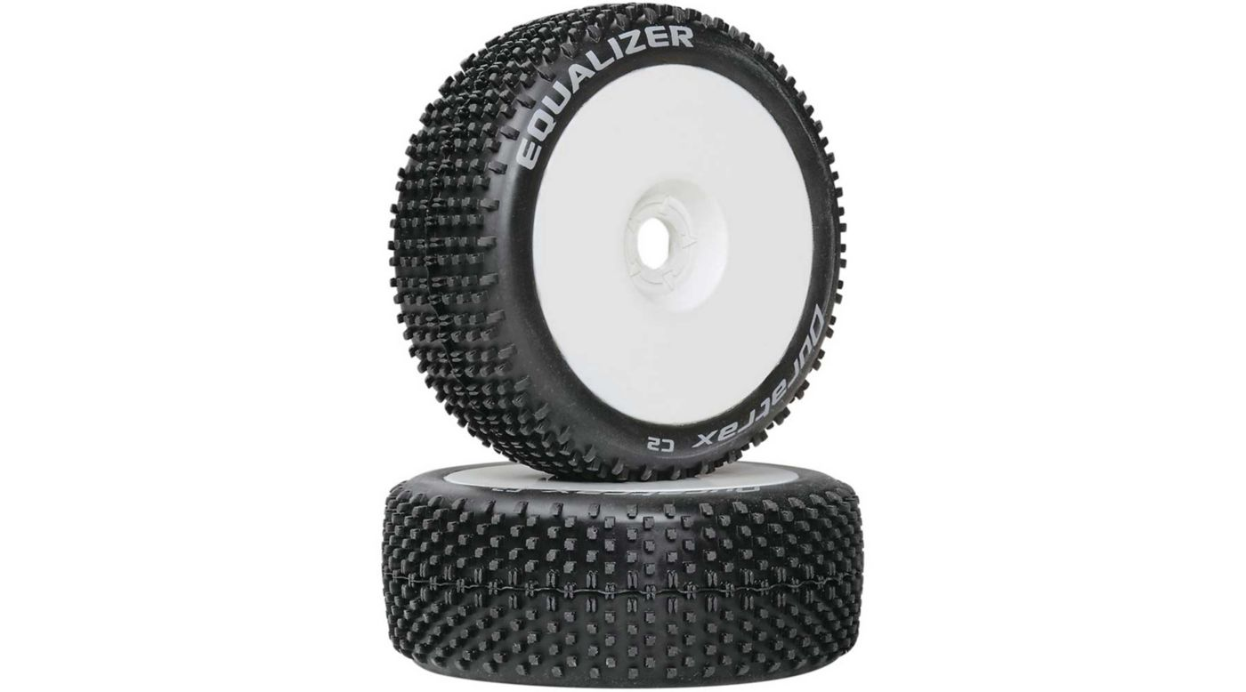 Image for Equalizer 1/8 C2 Mounted Buggy Tires, White (2) from HorizonHobby