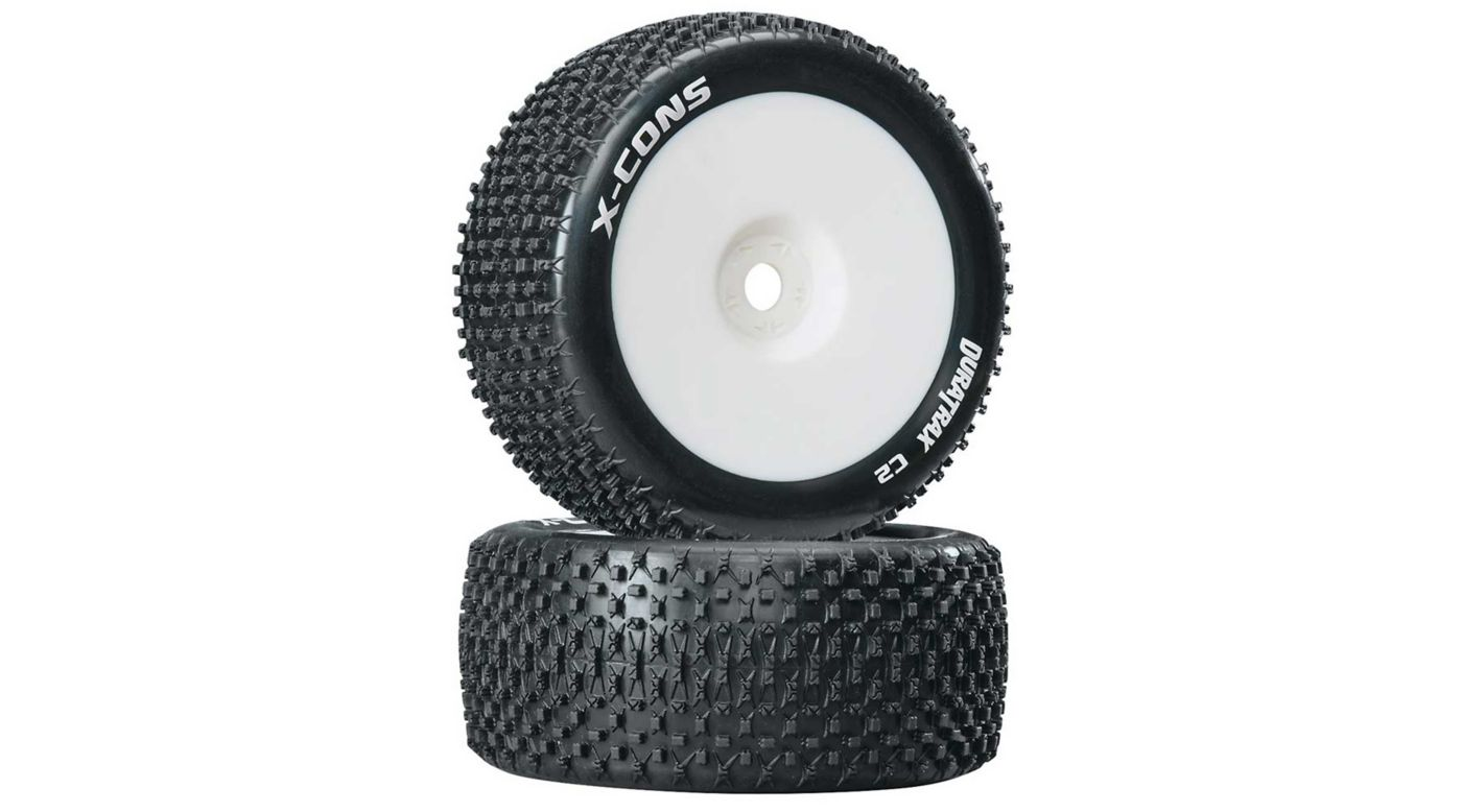 Image for X-Cons 1/8 Mounted C2 Truggy Tires (2) from HorizonHobby