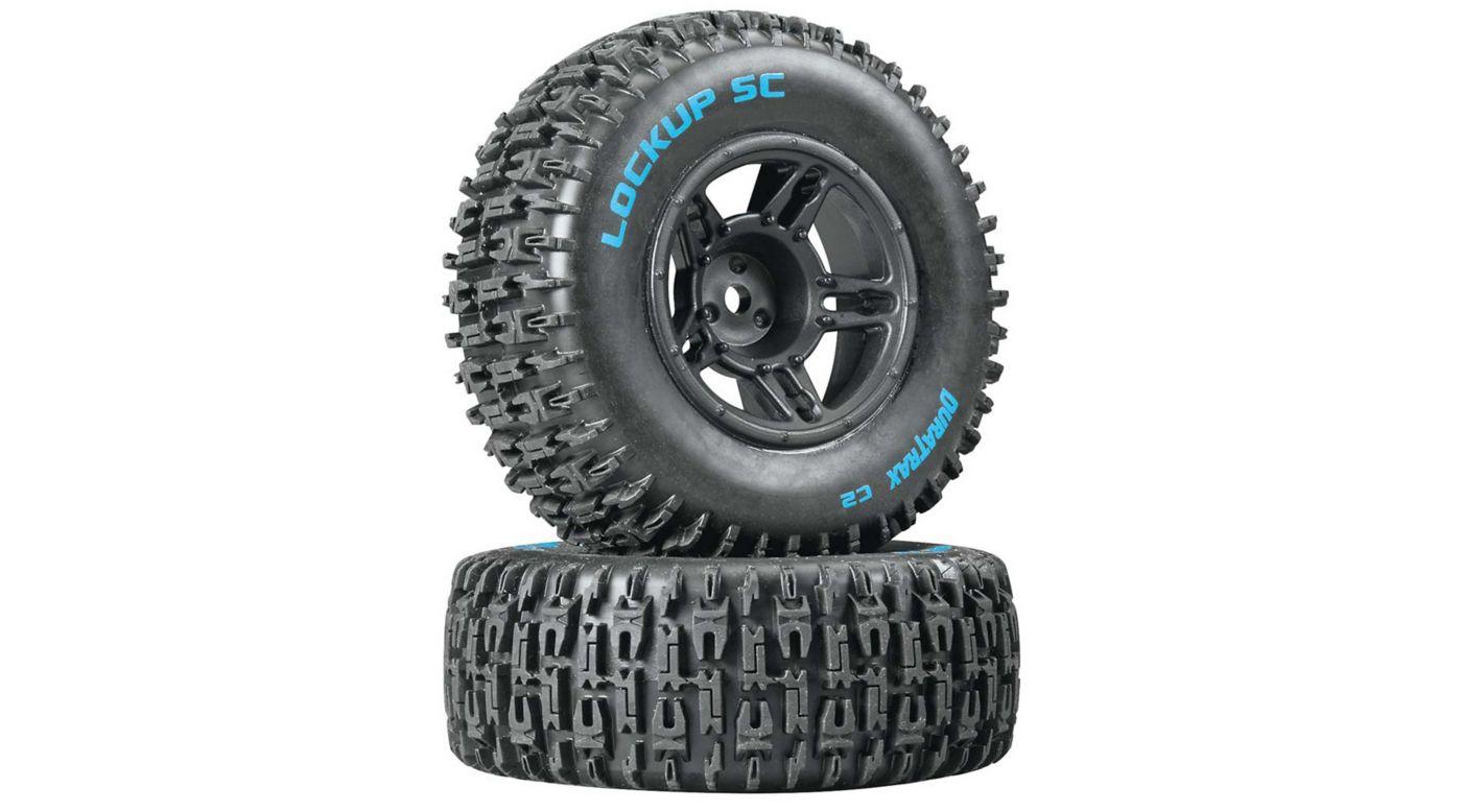 Image for Lockup SC Tire C2 Mounted Black Front: Slash(2) from HorizonHobby