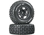 Duratrax - Lockup SC Tire C2 Mounted Black Rear: Slash (2)