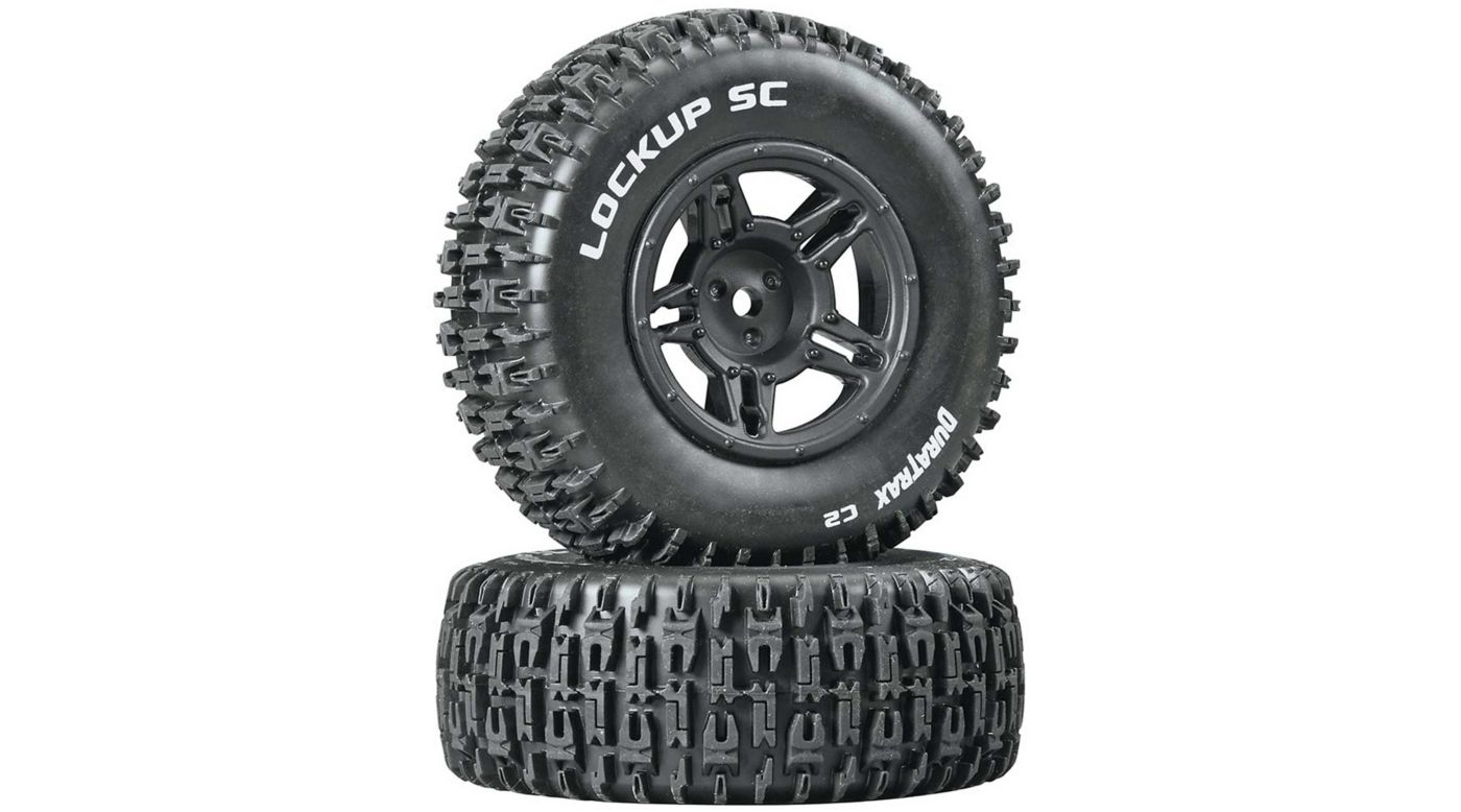 Image for Lockup SC Tire C2 Mounted Black Rear: Slash (2) from HorizonHobby
