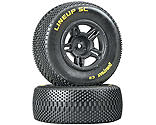 Duratrax - 1/10 Lineup SC Tire C2 Mounted Rear: Slash (2)