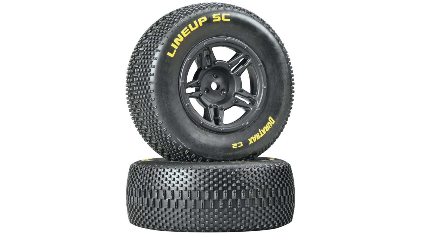 Image for 1/10 Lineup SC Tire C2 Mounted Rear: Slash (2) from HorizonHobby