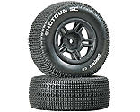 Duratrax - Shotgun SC Tire C2 Mounted Rear Tires: Slash (2)