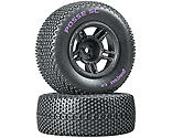 Duratrax - Posse SC C2 Mounted Tires, Front: Slash (2)