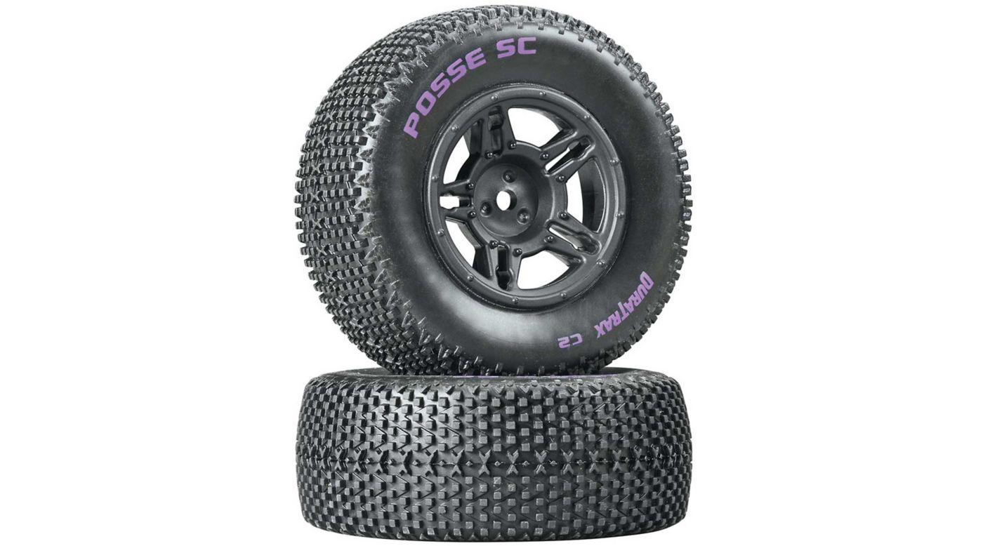 Image for Posse SC C2 Mounted Tires, Rear Slash (2) from HorizonHobby