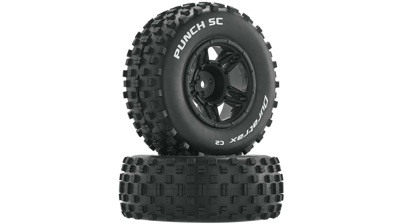 Image for Punch SC C2 Mounted Front Tires: Slash (2) from HorizonHobby